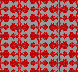 Red On Steel Seamless Background Patten.