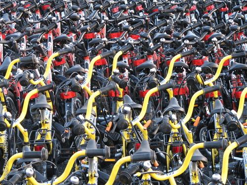 Deurstickers Amsterdam Tous vont à vélo.
