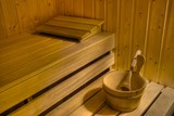 Interior of a sauna poster