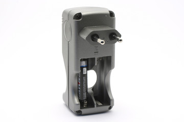 Battery charger frontal side view