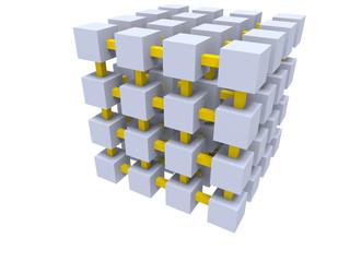 gray cube mesh