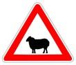 Panneau de Signalisation (Passage d'animaux domestiques - A15A2)