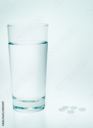 aspirin and water