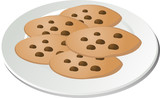 cookies on plate hand drawn illustration poster