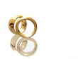 3D two wedding ring on a white background