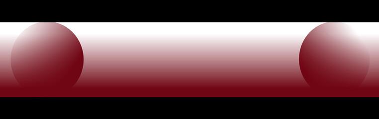 Bandeau rouge & noir