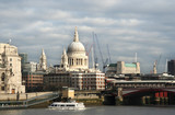 St. Pauls cathedral seen from across the Thames poster