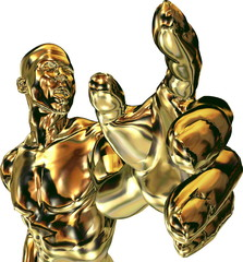Goldene Hand greift (isoliert)