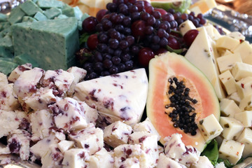 Delicious Cheese and Fruit Tray