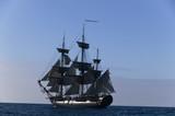 Pirate Ship at Sea under full sail  - 6041291