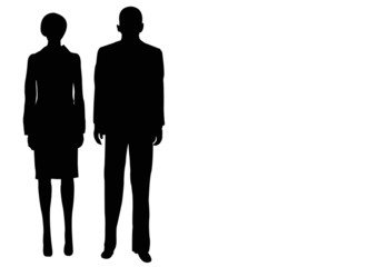 businessman and businesswoman couple