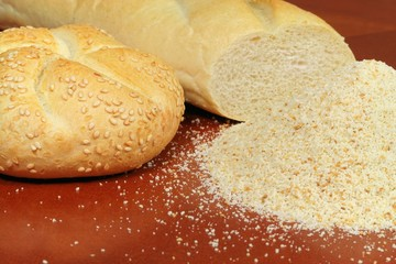 Close up of breads and breadcrumb