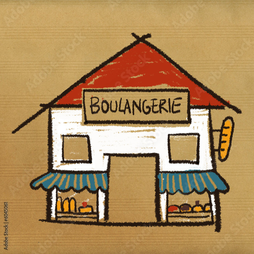 Dessin boulangerie photo libre de droits sur la banque d - Coloriage boulangerie ...