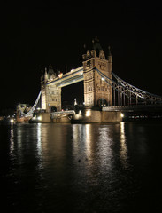 London, Tower Bridge at night