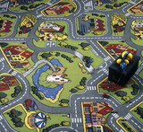 Carpet with traffic signs poster