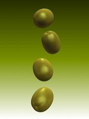 fallende oliven