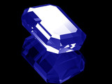 3d Sapphire gem isolated  poster