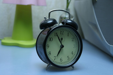A photo of retro alarm clock