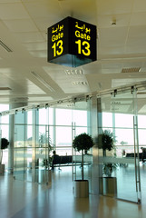 Gate 13, symbol of back luck flying.