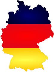 bandeira mapa alemão