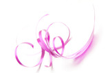 Close-up photo of the magenta decoration element poster