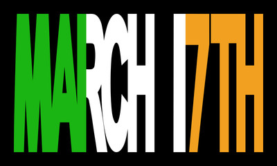 March 17th with Irish flag