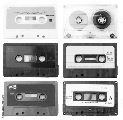 collection of music cassettes