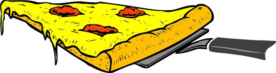 Illustration eines Stück Pizzas - Vector