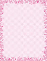 pink background of hearts