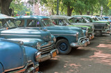 Fototapety Parked old cars - Cuba
