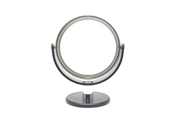 round silver mirror