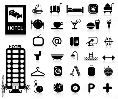 Hotel Icons set - Vector