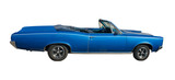 large blue convertible poster