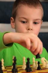 boy play chess