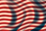 USA vintage patriotic background with waves poster