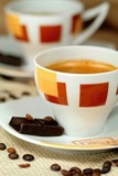 Close-up of a wonderful cup of hot coffee poster