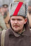 Russian soldier 1918.Reenacting.Civil war poster