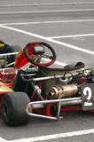 kart in the pits ready for racing poster