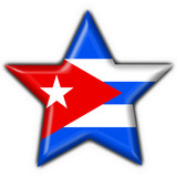 cuba button flag star shape