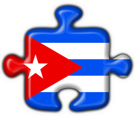 cuba button flag puzzle shape