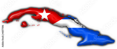 cuba button flag map shape