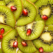 Background from slices kiwi and grapefruit