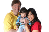 Multiracial family poster