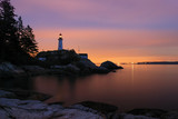 point atkinson lighthouse in twilight poster