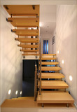 Staircase in modern home poster