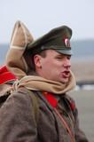 Russian soldier.Civil war 1918. reenacting poster