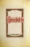 Vintage Award Label On Old Textured Paper poster