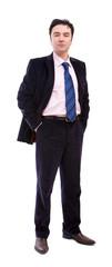 confident businessman portrait on white background