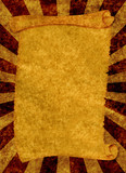 old scroll shaped texture on sunbeam background poster