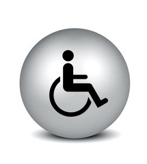 Handicap Symbol - silver